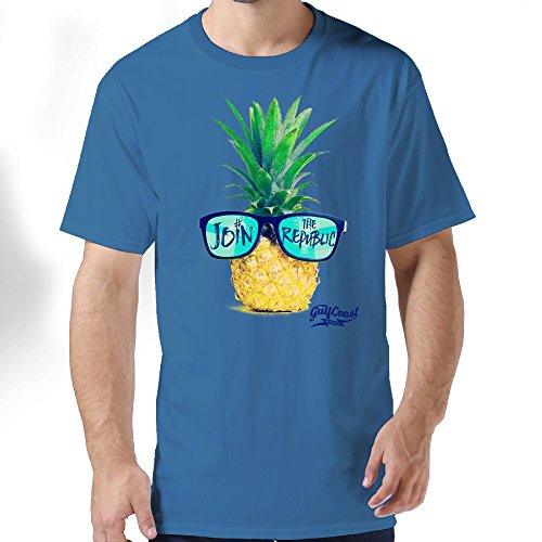 Eijudge Sunglasses Pineapple Fashion Men's Short Sleeves 100%cotton Pure Color Tee Shirt - Customize Sunglasses Cheap Own Your