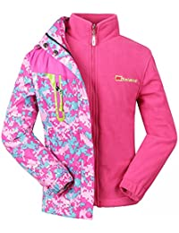 Girls 3-in-1 Jacket with Fleece Liner Outdoor Winter Outerwear