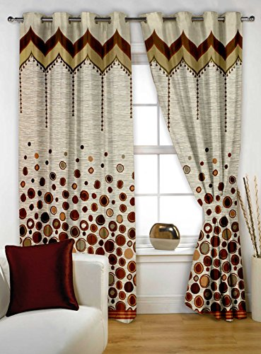 Story@Home Eyelet Fancy Rintop 1 Piece Designer 5 feet Premium Window Curtain