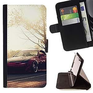 KingStore / Leather Etui en cuir / Sony Xperia Z3 D6603 / N1ssan 350z Fairlady