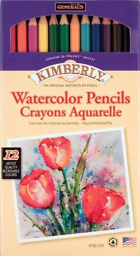 UPC 044974070126, General Pencil Kimberly Watercolor Pencils 12/Pkg-Assorted Colors