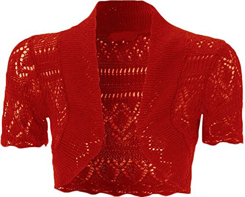 FashionMark Girls Kids Crochet Knitted Bolero Shrug Top