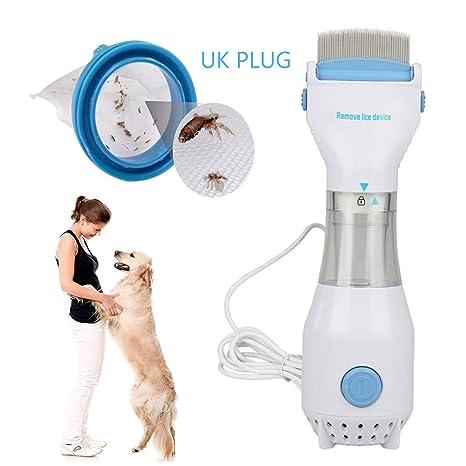 KOBWA Peine eléctrico de piojos y Huevos para Cuidado de pulgas y pulgas para Mascotas,