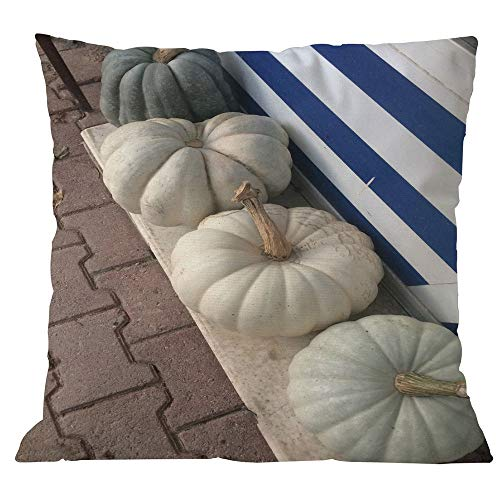 DBolomm Halloween Pumpkin Pillow Case, Square Pillow Cover Cushion Case Pillowcase Zipper Closure(D)