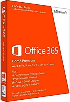 Microsoft Office 365 Home for 1 Year,5 Devices