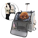 Premium Pet Travel Tote Carrier Bag with Detachable Roller System with Free Dog Muzzle
