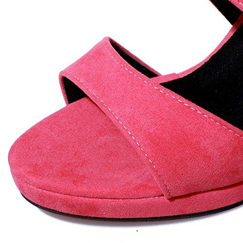 COOLCEPT Mujer Tacon Plataforma Sandalias Fiesta rosado