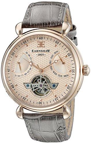 Thomas Earnshaw Men's ES-8046-03 Grand Calendar Analog Display Automatic Self Wind Brown Watch