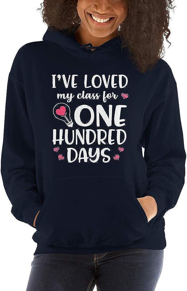TEEPOMY Ive Loved My Class for 100 Days of School Teacher Unisex Hoodie