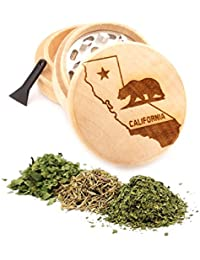 Gain California Engraved Premium Natural Wooden Grinder Item # PW91316-42 lowestprice