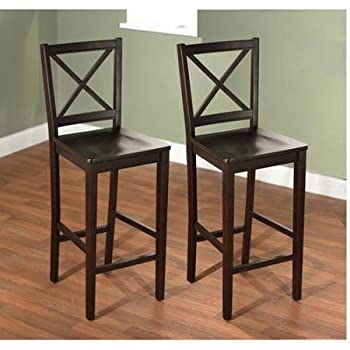 Amazon Com Virginia Cross Back Stool 24 Quot Set Of 2