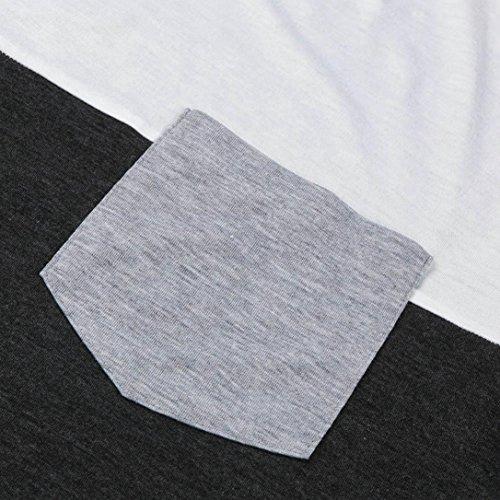 f4ea2ec8500ef LuckyGirls Camisetas Hombre Originales Manga Corta Verano Moda Color de Hechizo  Bolsillo Polos Personalidad Casual Remera