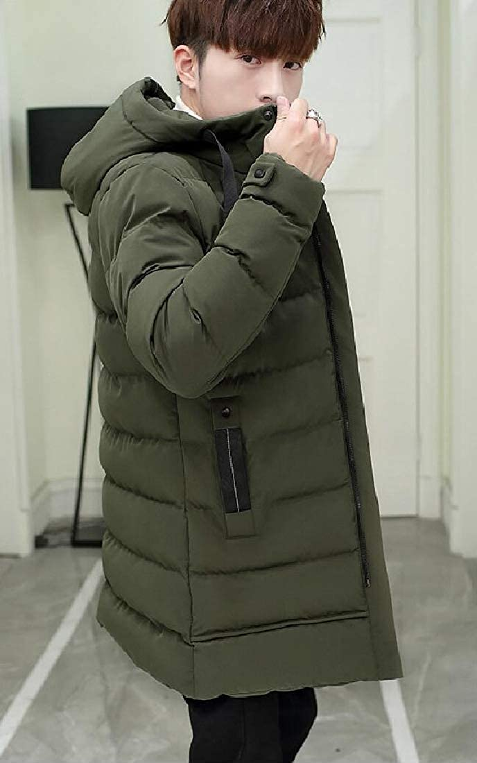 heymoney Mens Warm Thick Hoodies Parka Padded Puffer Down Jackets