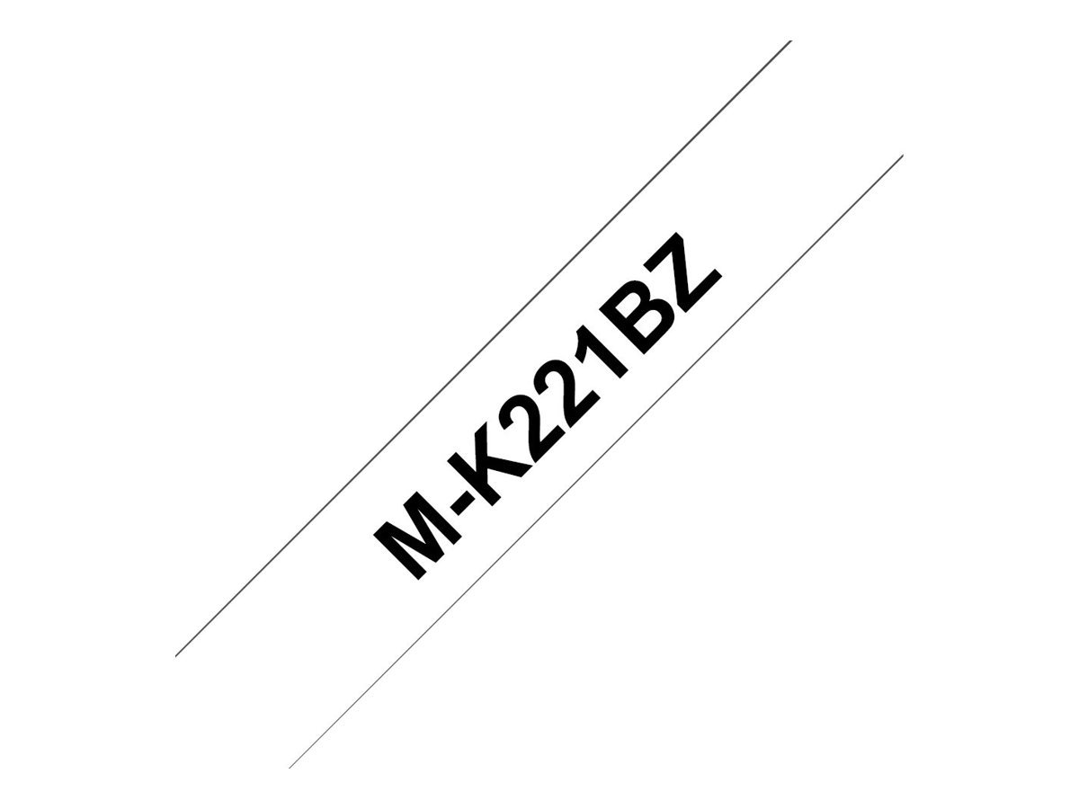 Brother MK-233BZ Labelling Tape Cassette, Blue on White, 12 mm (W) x 8 m (L), Brother Genuine Supplies MK233BZ