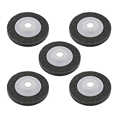 Yasorn 100mm Nylon Buffing Wheel Polishing Disc Grey Pack of 5 for Angle Grinders