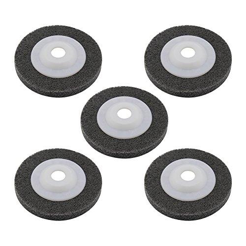 (Yasorn 100mm Nylon Fiber Buffing Polishing Wheel Sanding Disc Set Grey Pack of 5 for Angle Grinders)