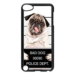 DIY PUGS Theme Phone Case Fit To iPod Touch 5 , A Good Gift To Your Family And Friends