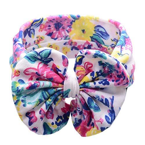 BUKEZH Baby Girls Bow KnotHairband Sweet Cute Hair Head Hoop Colorful Elastic Headband -