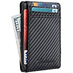 Front Pocket Leather Slim Wallet : RFID Blocking