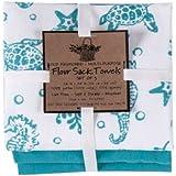 Kay Dee Designs A8361 Sea Life Flour Sack Towels (Set of 3)