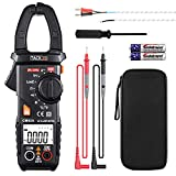 Digital Clamp Meter Multimeter Auto-Ranging Tacklife CM02A 600 Amp TRMS 6000 Counts NCV with AC Current AC/DC Voltage Test Resistance Continuity Capacitance Temperature Measure