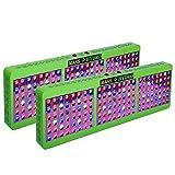 [Pack of 2]MarsHdyro Reflector144 LED Grow Light 317W True Watt Panel with Veg Flower Switchable Spectrum