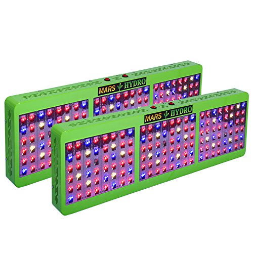 [Pack of 2]MarsHdyro Reflector144 LED Grow Light 317W True Watt Veg and Flower Switchable Spectrum for Indoor Greenhouse/Garden