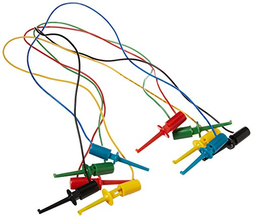 Jameco Benchpro SF-207A-R Miniature Clip Test Leads, 14
