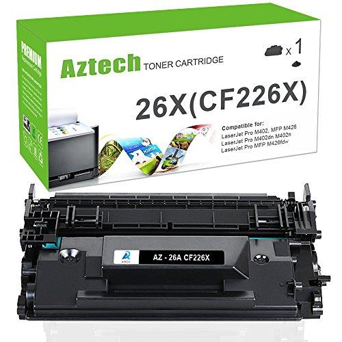 Aztech 1PK 9,000 High Yield Compatible for HP 26X CF226X 26A CF226A MFP M426fdw M402n Toner Cartridge for HP Laserjet Pro M402n M402dn M402dw M402d, MFP M426dw M426fdw M426fdn Toner Printer Black Ink