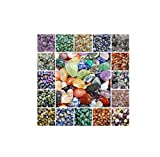 Azaina_wor Collectibles 2 oz Bag of Large Rhyolite Tumbled Stones Crystal Healing Rainforest Jasper