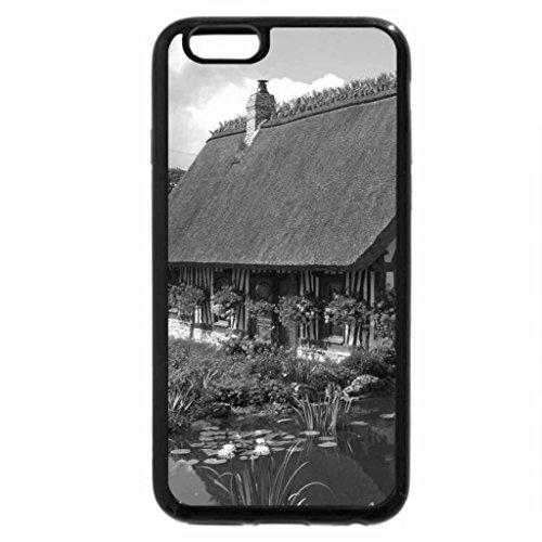 iPhone 6S Plus Case, iPhone 6 Plus Case (Black & White) - Beautiful cottage