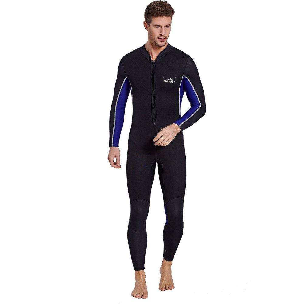カップルモデルの日焼け止めロングスリーブ3MM厚く暖かいワンピース水着サーフダイビングスーツ,Male,XXXL Male XXXL