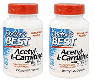 Doctor's Best Acetyl-L-Carnitine, 500 mg, 120 Veggie Caps