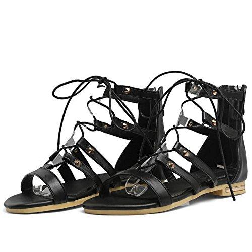 Donne Black Gladiator Classico Zanpa Flats pgcdqTT