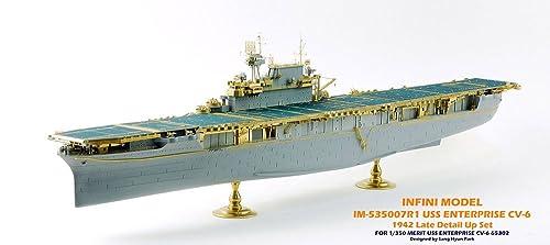 インフィニモデル 1/350 アメリカ海軍 空母 エンタープライズ 1942年用 ディテールアップセット エッチング 真ちゅう挽き物パーツ ME社用 プラモデル用パーツ IM53507