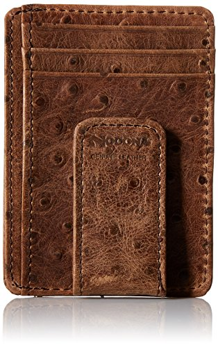 Nocona Belt Co. Men's Nocona Brown Ostrich Magnet Money, One Size (Money Clip Western Wallets)
