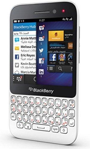 Blackberry Q5 SQR100-2 8GB 4G LTE, GSM Unlocked, English/Arabic Keypad - White (Arabic Cell Phone)