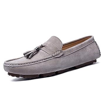 Shufang-shoes, Zapatos Mocasines para Hombre 2018 Mocasines Drive para Hombre, Mocasines de Barcos Transpirables de Moda con Borla británica Informal (Color ...