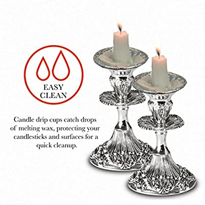 OHR Extra Heavy Disposable Aluminium Foil Candle Holder, Drip Cup Bobeches - Pack of 50