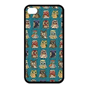 Newly Fashion Brand New White and Black Lovely Owl 100%TPU Cases for iPhone4 iPhone4S