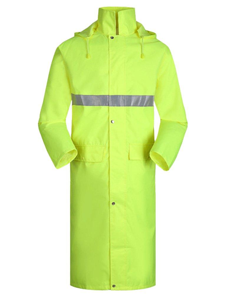 Insun Erwachsenen Regencape mit Kapuze Regenbekleidung Raincoat mit Reflektierendes Band für Damen und Herren INSN-JLYY-0002