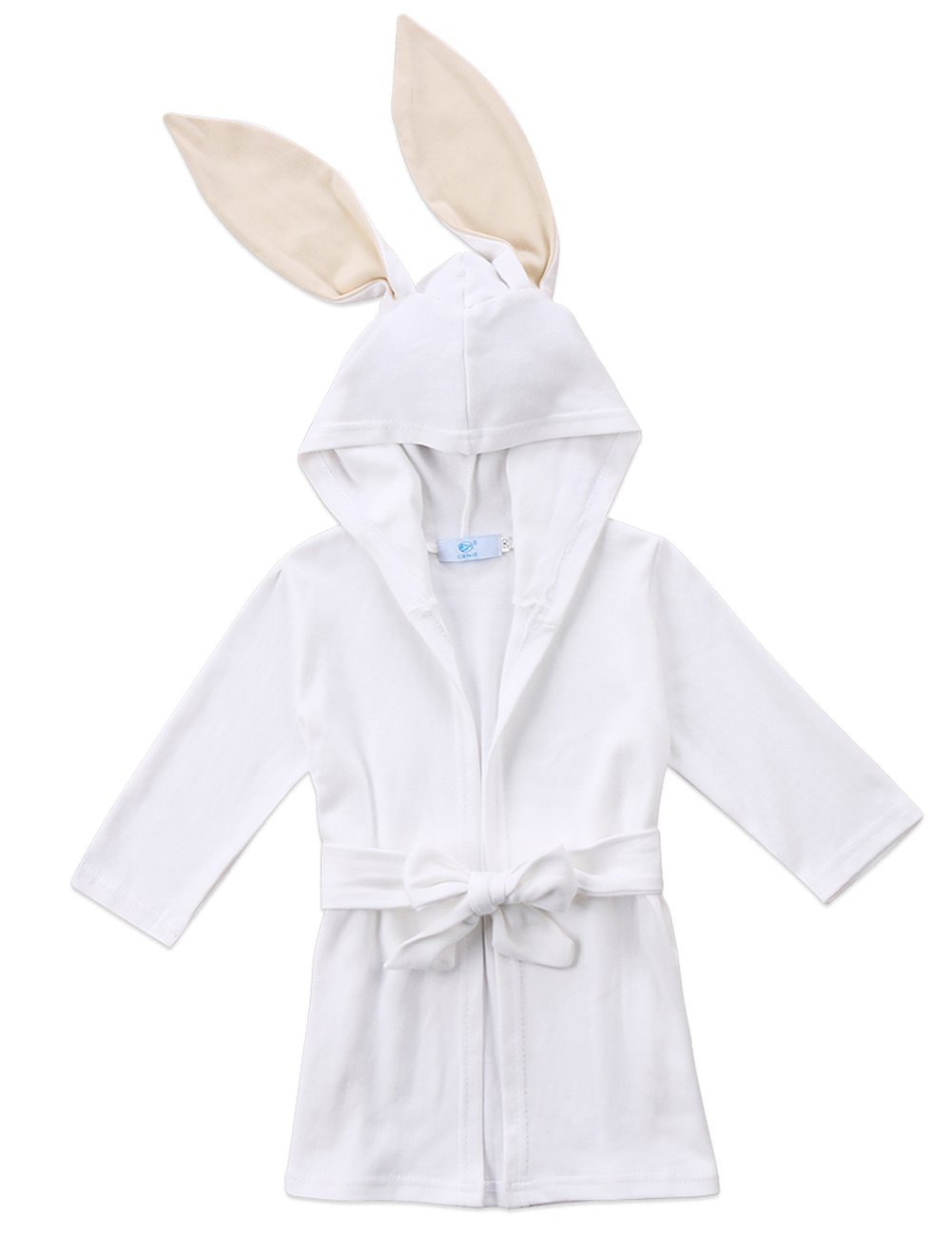 Baby Boys Girls Long Sleeve Hooded Bathrobes Cartoon Animal Rabbit Costume Pajamas