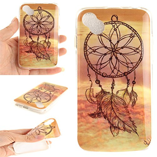 Hozor Wiko Sunny / Sunset 2 Cas, Motif Peint TPU Souple En Silicone Couverture Arrière Slim Fit Antichoc Scratch Résistant Cas De Téléphone De Protection Bord Transparent Dreamcatcher