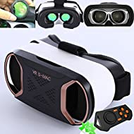 Casque de réalité virtuelle 3d, Bevifi VR Headset/lunettes/Viewer avec télécommande pour [4.2–14,7 cm] Android Samsung Galaxy S7 edge/S7/S6/S5, iOS iPhone 7/6/6S Plus etc. – Or rose
