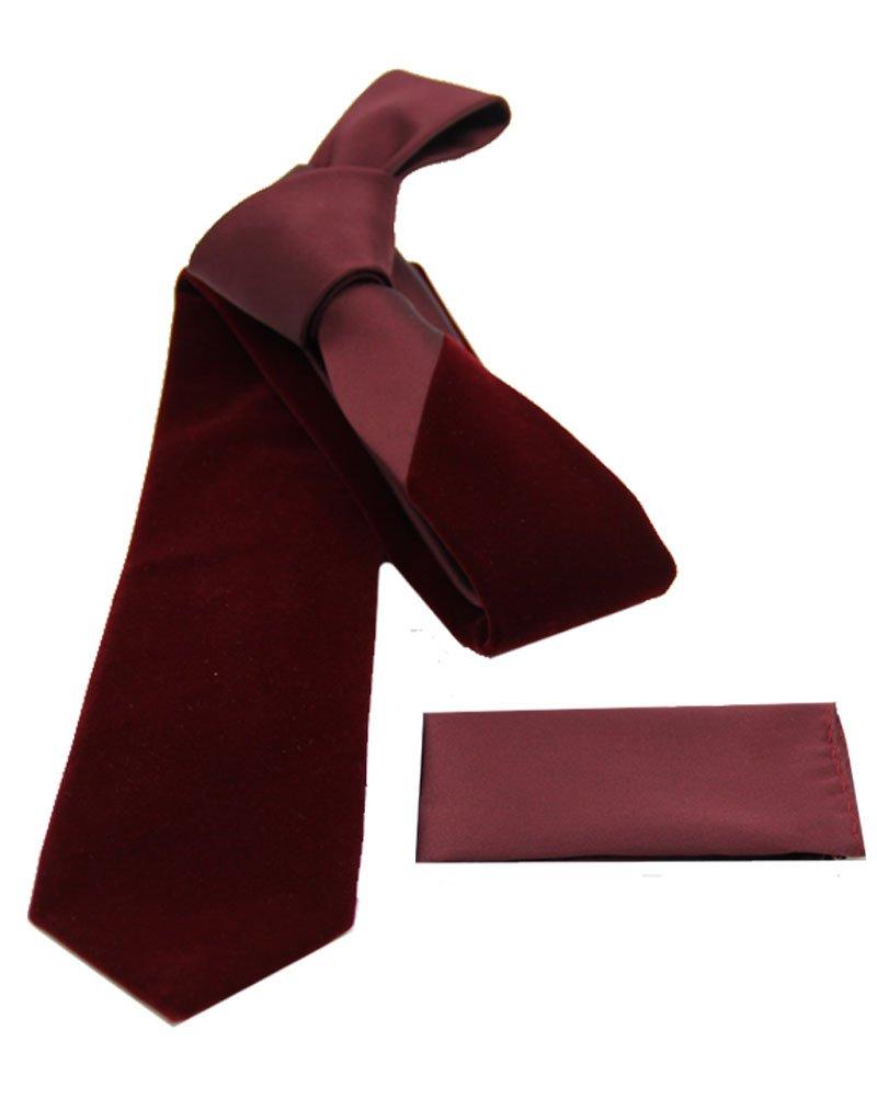 Imani Uomo Velvet Tie - Burgundy by Imani Uomo (Image #1)
