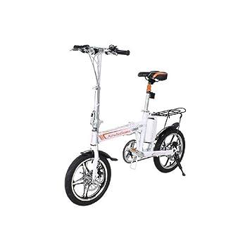 MINICARS Bicicleta eléctrica Plegable 16 Pulgadas 235 W 36 V 6 Ah Blanco