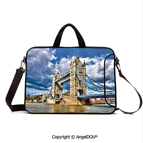 - AngelDOU Waterproof Laptop Sleeve Bag Neoprene Carrying Case with Handle & Strap Historical Tower Bridge on River London UK British Day Time International Herita for Women &Men Work Home Office Mult