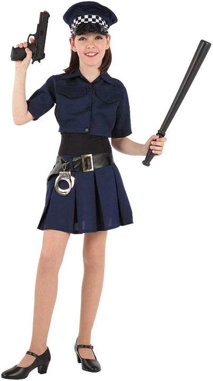 Disfraces FCR - Disfraz de policía niña talla 8 años: Amazon.es ...