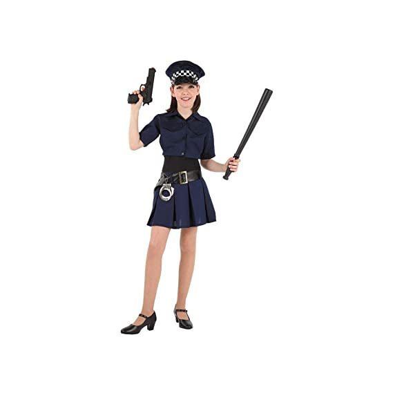 Disfraces FCR - Disfraz de policía niña talla 6 años: Amazon.es ...