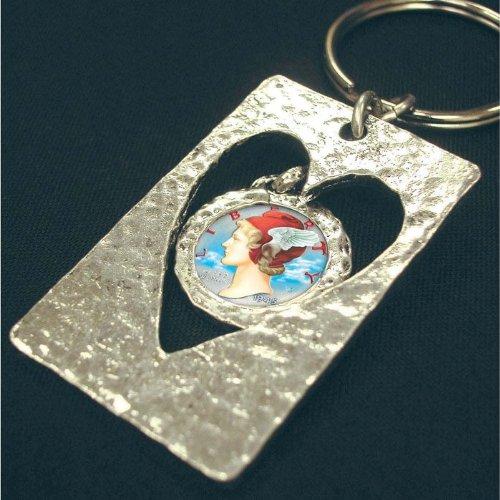 Mercury Dime Heart (Cut Out Heart Colorized Silver Mercury Dime)